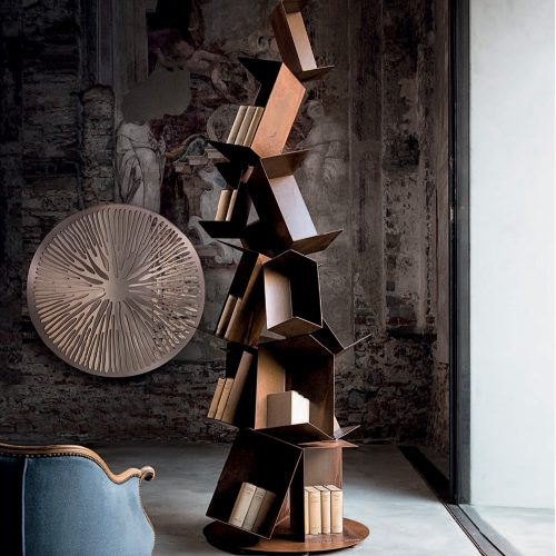Collapse Sculptural Bookcase